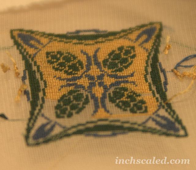 Miniature Needlepoint Pillow