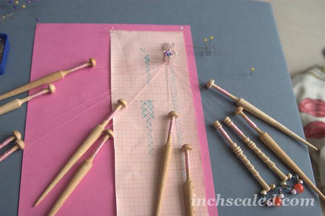 Bobbin lace- first try