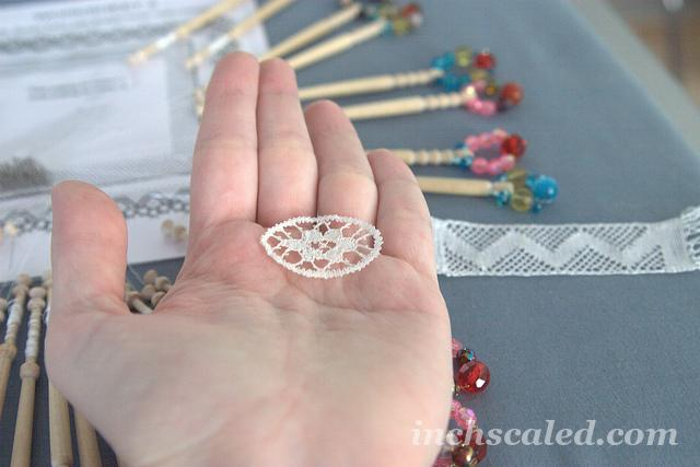 Bobbin lace practice